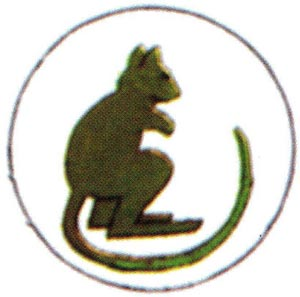 TAC Sign of 7th Amoured Brigade, the Green Jerboa, from 1942 to 1945. Click here to go to the 7th Armoured Brigade website.