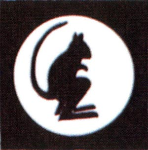 TAC Sign of 4th Armoured Brigade  - The Black Rats - from 1943 to 1945