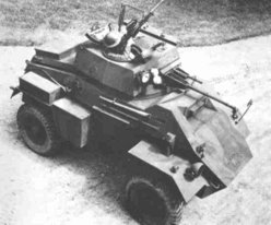 Aerial view of Humber MK II Armoured car