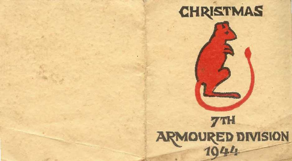 Front of Divisional Christmas Card from 1944. Courtesy of Alf and Ray Parish.
