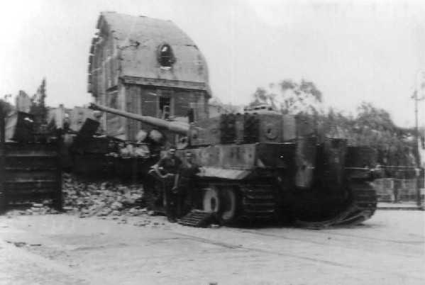 Wrecked Tiger Tank on the streets of Berlin. Picture courtesy of Norman Whyte.