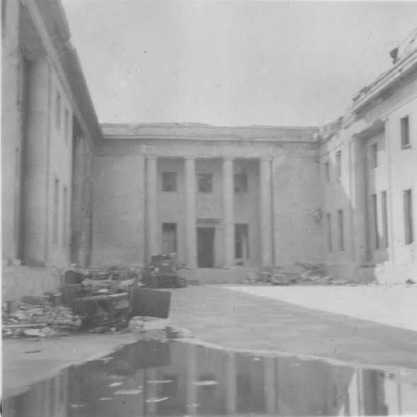 Outside the Reichs Chancellery.