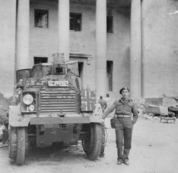 Wrecked Armoured Car outside the Reichs Chancellery.