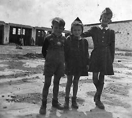 Three more children that were always on the lookout for some food, or soap, or chocolate. Life wasn't much fun for them at the end of the war.