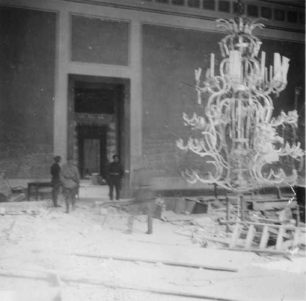 Chandelier inside the Reichs Chancellery.