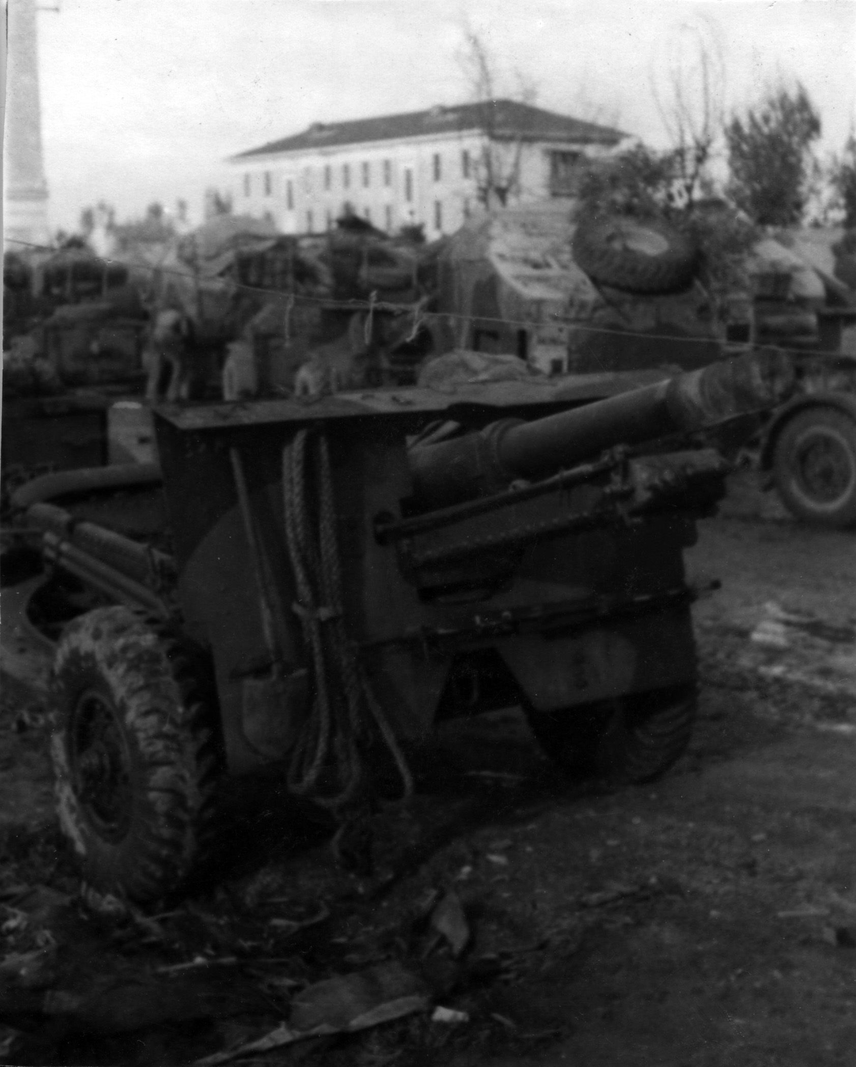 25 pdr on tow, probably in Italy