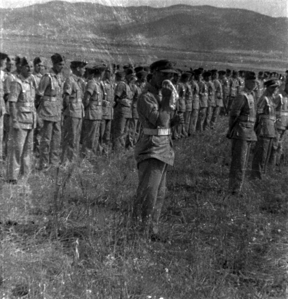 3RHA on parade after the end of the N African Campaign in Tunisia, 1943.