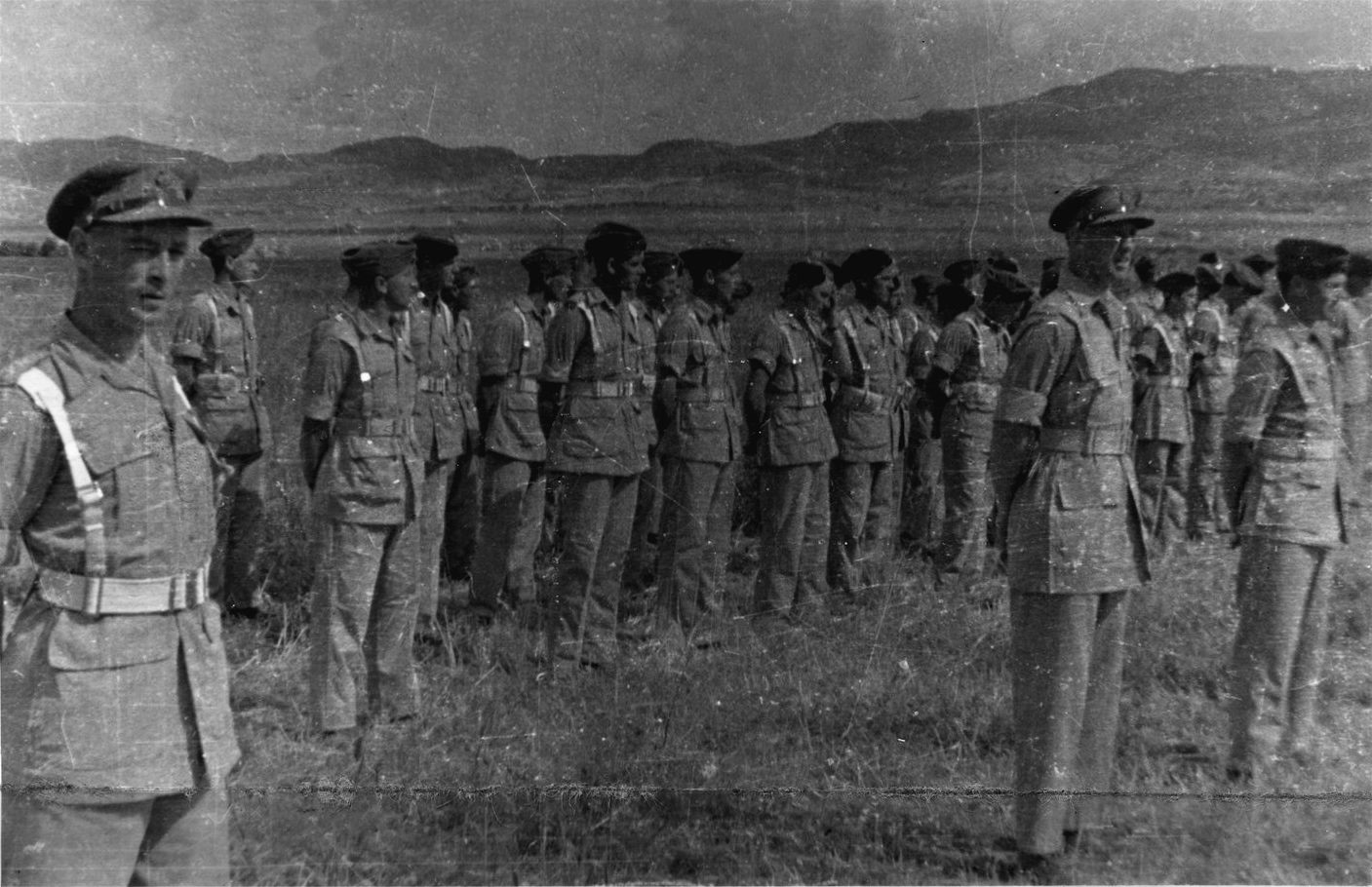 Anothor photo of 3RHA on parade after the end of the N African Campaign in Tunisia, 1943.