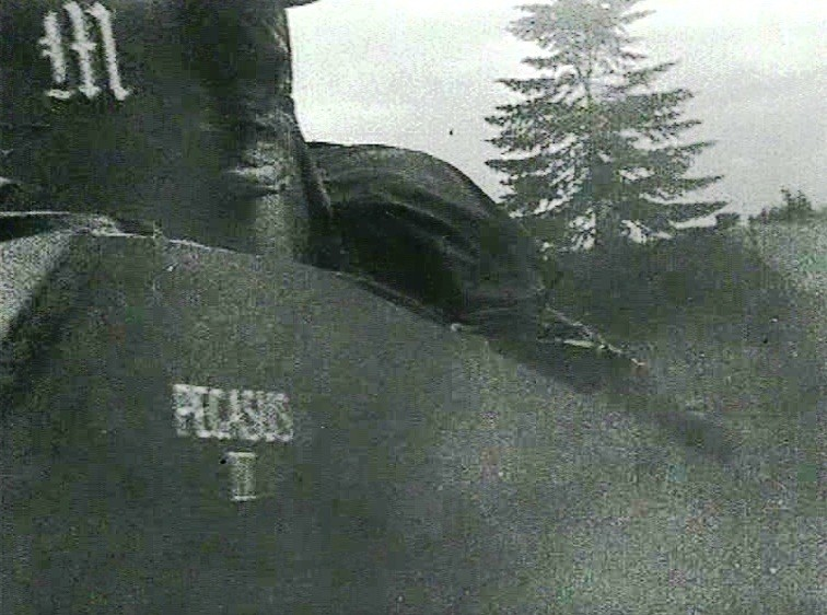 Battery Commanders AOP Sherman called Pegasus IV, from M Battery, 3rd RHA. The Gothic M is clearly shown on the turret,