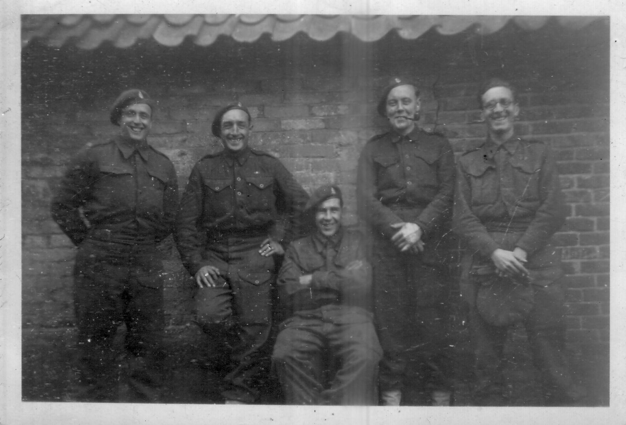 Men from CC Battery HQ. My father Dvr/Op Alex Paterson is second the right.
