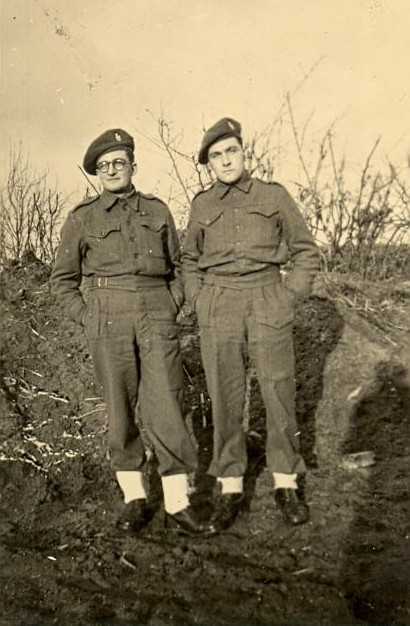 Two men from D Troop, CC Battery, 5 RHA probably in 1945.  Photo Leonard Smith and courtesy of his family.