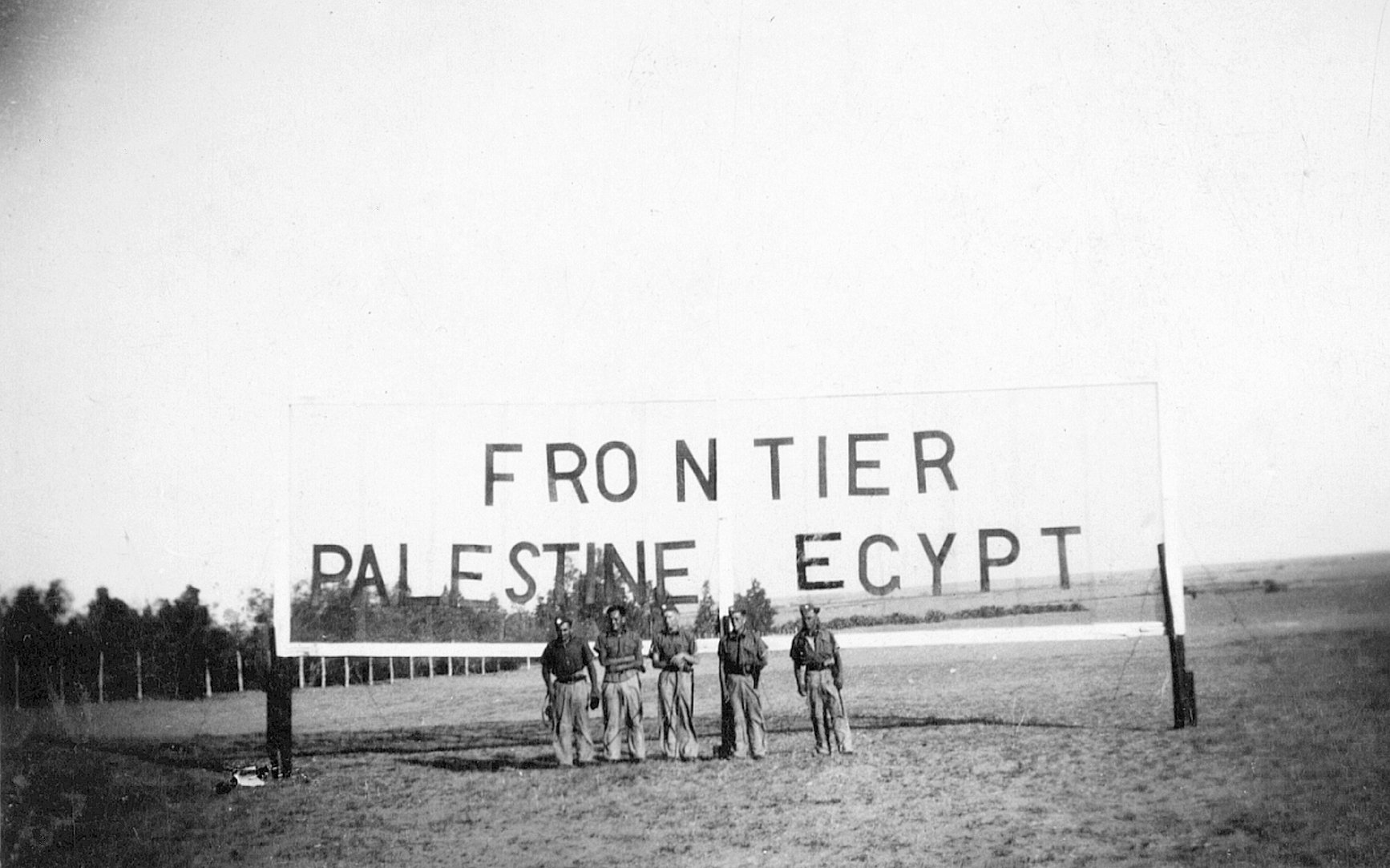 8th Hussars on the Egyptian - Palestine Frontier before the war, in 1938.