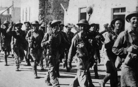 1/6th Queens Regiment entering Tobruk in 1942