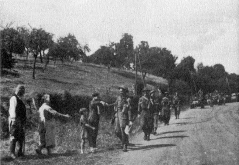 1/6th Queens Regiment at Ste Margueritte de Viette, near Lisieux, in 1944