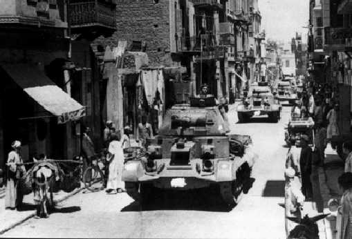 A9 in Cairo in 1939. Note the AoS sign and serials have been covered up by the offical censor.