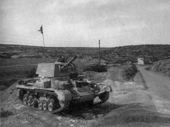 A9 CS Tank from 2nd RTR guarding the Derma Pass in 1941