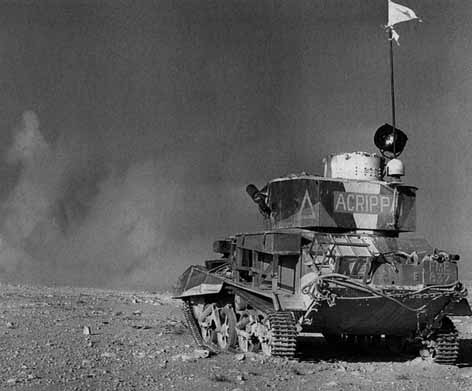 Light Tank MK VI from A Squadron in action