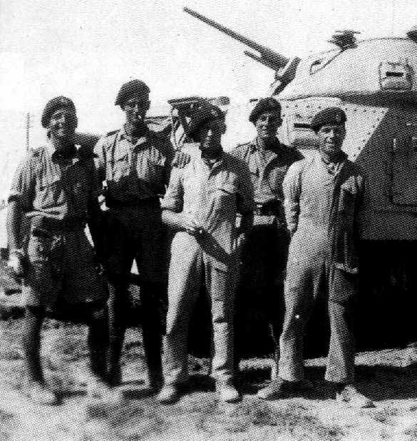 Men of 6th RTR beside their Grant Tank