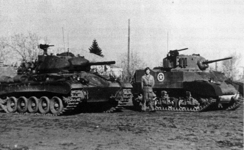Chaffee and Honey Tanks from the Recce Squadron of 8th Hussars in 1945