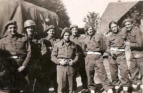 Men from CC Battery (most likely from 'H' Troop), Hamburg 1945. Courtesy of William Parfitt & Mark Smith.