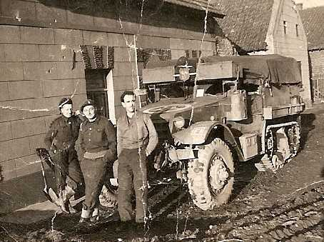 Men from the Light Aid Detachment for 5 RHA, Holland December 1944. Courtesy of William Parfitt & Mark Smith.