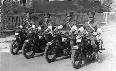 It is believed that this was the motorcycle team that lead the lining up for the victory parade in Berlin.