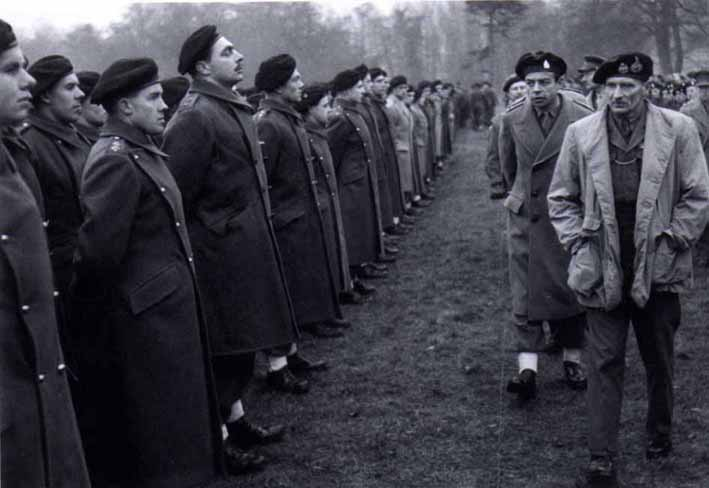 4th County of London Yeomanry, being inspected by General Montgomery, England 1944