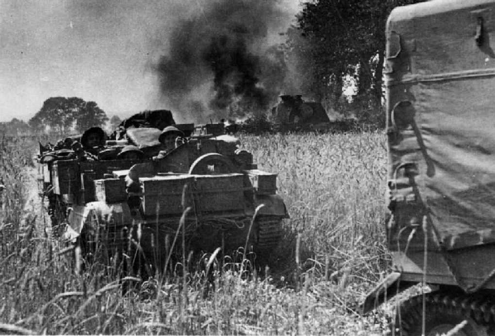A Bren Gun Carrier from one of the Queen's Battalions in Normandy 1944.