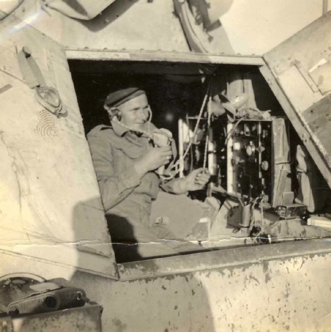 The radio inside a Marmon Herrington armoured car. Picture courtesy of Rick Allenberg.