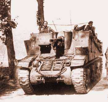 Sexton 5 RHA Europe 1944, named Bubbles III, from 'B' Troop, 'G' Battery (MercersTroop). NB. It is the '76' below the Divisional TAC sign, above the drivers hatch, which denotes that it as a Sexton from 5th RHA