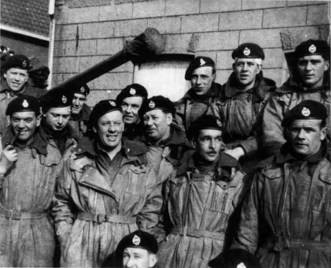 Men of the TAC HQ protection troop, in Holland during the winter of 1944-45.