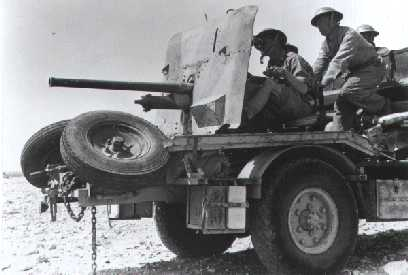 2pdr Anti-Tank Gun from J Battery 3 RHA mounted Portee in 1941.