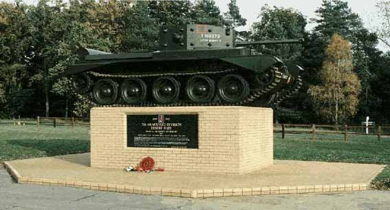 The Desert Rat Memorial, in Thetford Forest, near Mundford, Norfolk. Please click here to go to the Desert Rat Association site.
