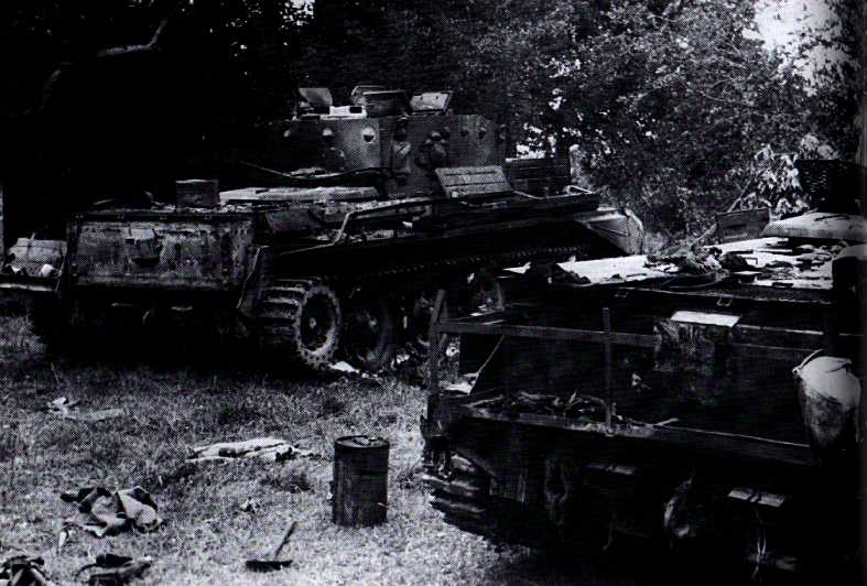 Abandoned Cromwells from A Squadron 4 CLY at Pt213